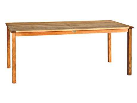 Three Birds Casual Brunswick Teak 72 x 36 Rectangular Dining Table PatioLiving