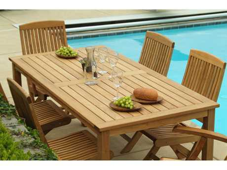 Three Birds Casual Braxton Teak Dining Set