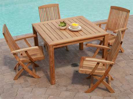 Three Birds Casual Braxton Teak Dining Set PatioLiving