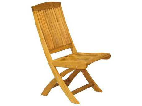 Three Birds Casual Braxton Teak Folding Side Chair PatioLiving