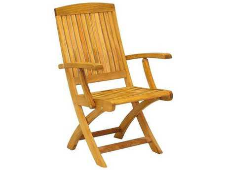 Three Birds Casual Braxton Teak Folding Armchair PatioLiving