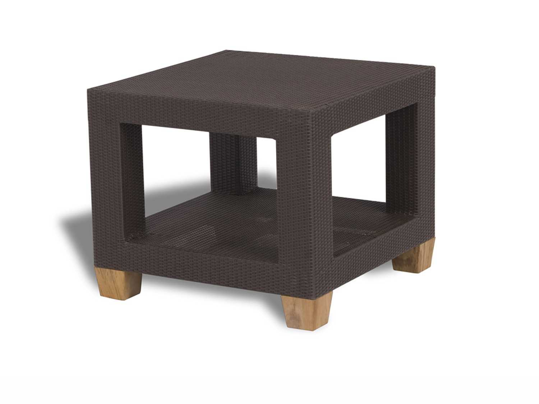 Enjoyable Three Birds Casual Ciera Teak Wicker 24 Square Side Table Inzonedesignstudio Interior Chair Design Inzonedesignstudiocom