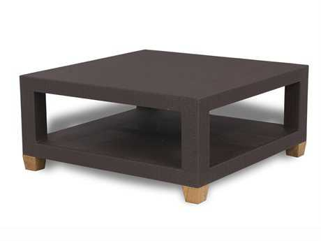 Three Birds Casual Ciera Teak Wicker 42 Square Coffee Table