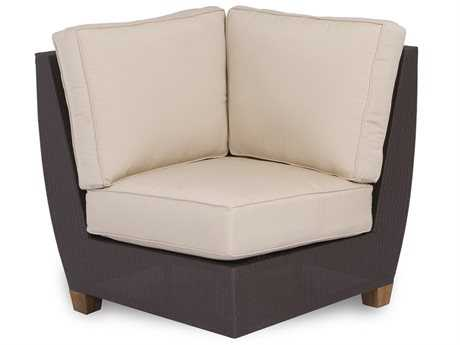Three Birds Casual Ciera Teak Wicker Sectional Corner Chair