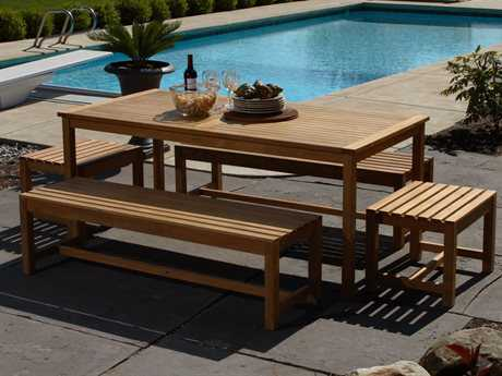 Three Birds Casual Charleston Teak Dining Set PatioLiving
