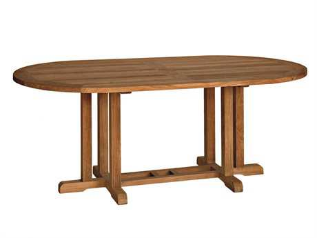 Three Birds Casual Camden Teak 72 x 38 Oval Dining Table