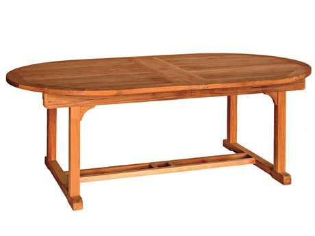 Three Birds Casual Chelsea Teak 80-115 x 48 Oval Dining Table PatioLiving