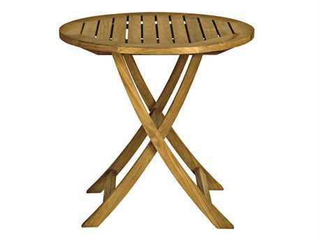 Three Birds Casual Cambridge Teak 30 Round Folding Cafe Table TBCR30