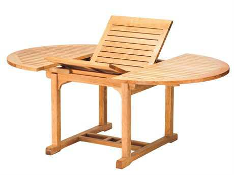 Three Birds Casual Chelsea Teak 48-72 x 48 Small Teak Extension Table
