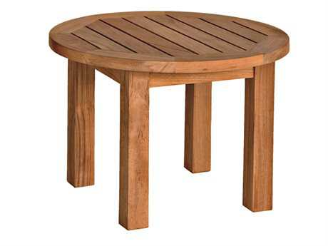 Three Birds Casual Canterbury Teak 20 Round Low Side Table