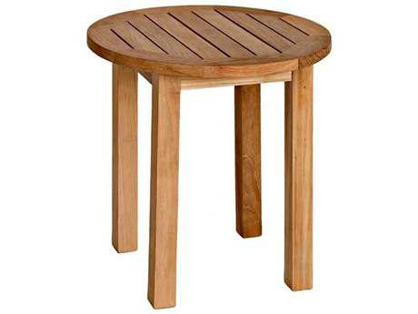 Three Birds Casual Canterbury Teak 20'' Wide Round End Table TBCT20T
