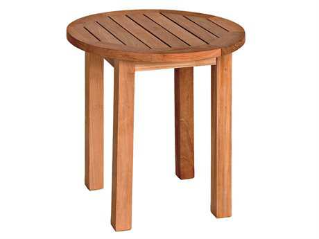 Three Birds Casual Canterbury Teak 20 Tall Round End Table