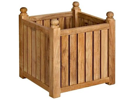 Three Birds Casual Teak Medium Flower Box