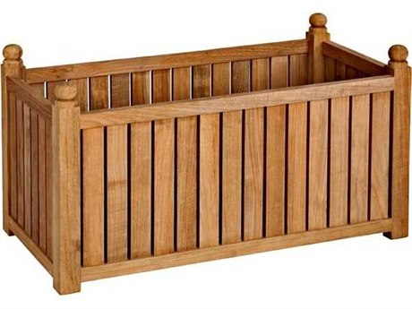 Three Birds Casual Teak Flower Box Rectangle