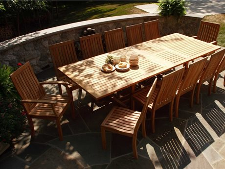 Three Birds Casual Monterey Teak Dining Set
