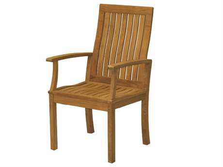 Three Birds Casual Monterey Teak Dining Arm Chair
