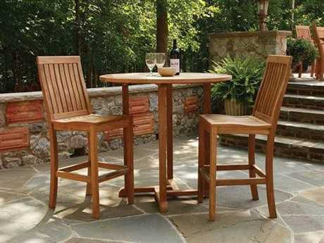 Three Birds Casual Oxford Teak Bistro Dining Set TBMT08SET
