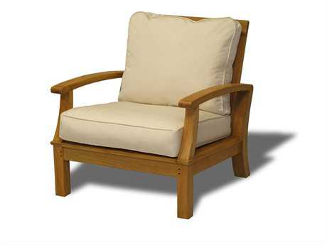 Three Birds Casual Monterey Teak Cushion Lounge Chair