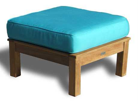 Three Birds Casual Monterey Teak Cushion Ottoman