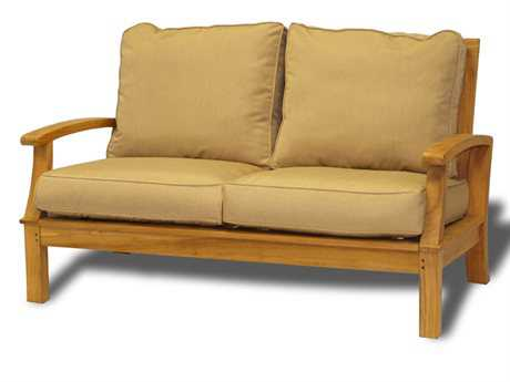 Three Birds Casual Monterey Teak Cushion Sofa