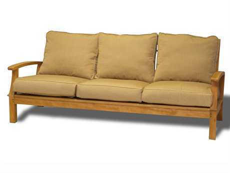 Three Birds Casual Monterey Teak Deep Seating 3-Seat Sofa PatioLiving
