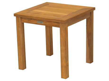 Three Birds Casual Newport Teak 20 Square Tall Side Table