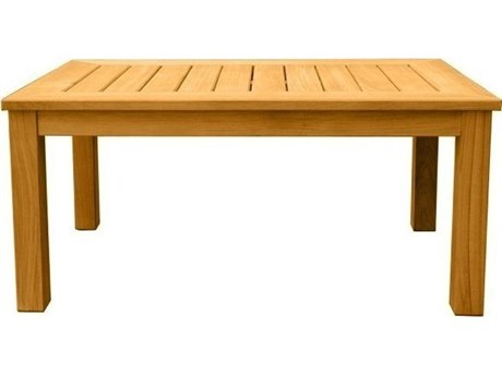 Three Birds Casual Newport Teak 40''W x 25''D Rectangular Coffee Table