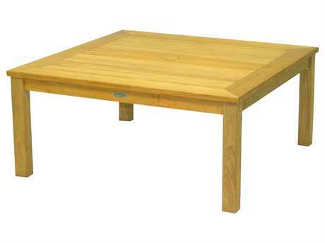 Three Birds Casual Newport Teak 42 Square Coffee Table PatioLiving