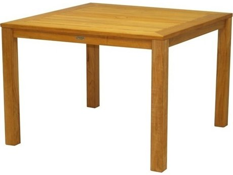 Three Birds Casual Newport Teak 42''W x 32''D Rectangular Dining Table PatioLiving