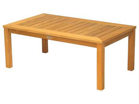 Three Birds Casual Newport Teak 48 x 28 Rectangular Coffee Table PatioLiving