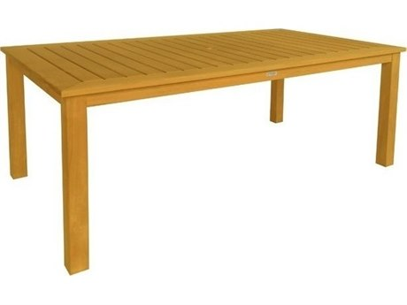 Three Birds Casual Newport Teak 74W x 42D Rectangular Dining Table