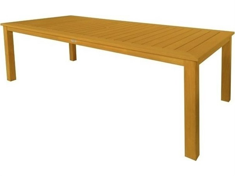 Three Birds Casual Newport Teak 86W x 42D Rectangular Dining Table PatioLiving