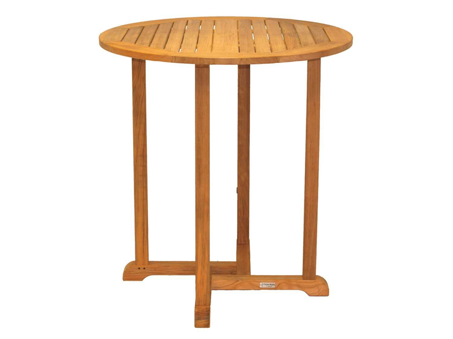 three birds casual oxford teak 36 round dining table rd36