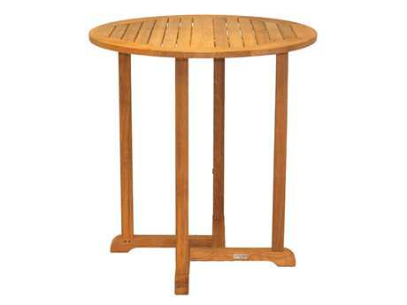 Three Birds Casual Oxford Teak 36 Round Bar Table PatioLiving