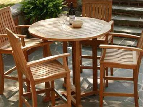 Three Birds Casual Oxford Teak Bistro Dining Set PatioLiving