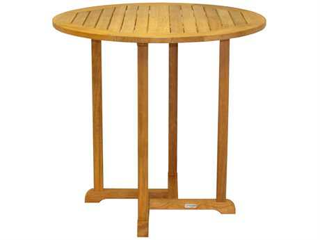 Three Birds Casual Oxford Teak 42 Round Dining Table