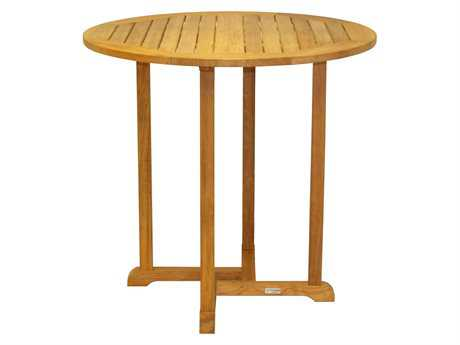 Three Birds Casual Oxford Teak 42 Round Bar Table