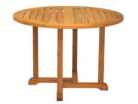 Three Birds Casual Oxford Teak 48 Round Dining Table PatioLiving