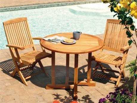 Three Birds Casual Oxford Teak Bistro Dining Set