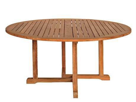 Three Birds Casual Oxford Teak 60 Round Dining Table PatioLiving