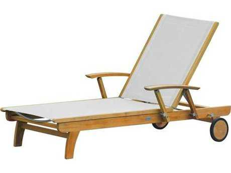 Three Birds Casual Riviera Sling Teak Adjustable Chaise Lounge
