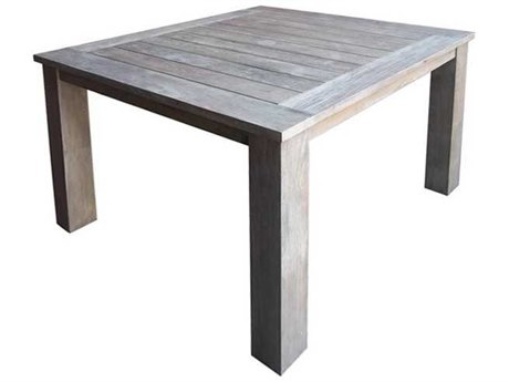 Three Birds Casual Shelburne Teak 44 Square Dining Table