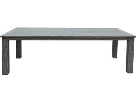 Three Birds Casual Shelburne Teak 96 x 40 Rectangular Dining Table PatioLiving