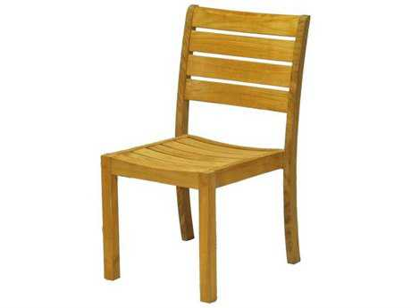 Three Birds Casual Sedona Teak Stacking Side Chair - Price Includes 2 Chairs