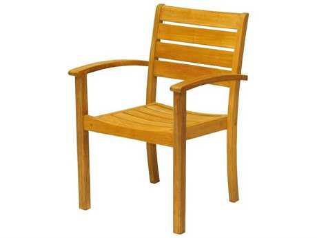 Three Birds Casual Sedona Teak Stacking Armchair - Price Includes 2 Chairs