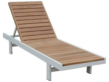 Three Birds Casual SoHo Teak Chaise Lounge TBSH70