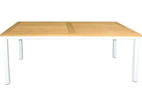 Three Birds Casual SoHo 72''D x 36''W Rectangular Teak Dining Table