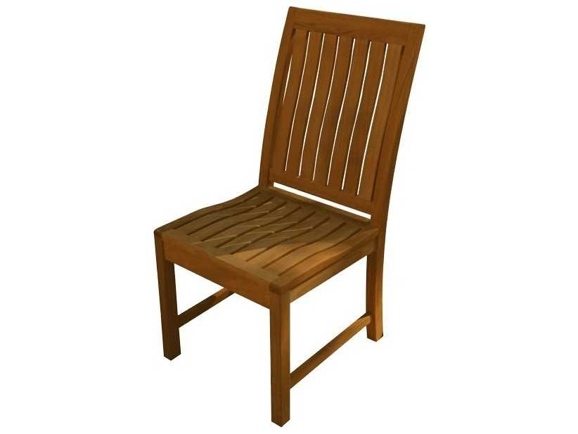 Three birds casual st lucia teak dining side chair tbsl06 for Informal dining chairs