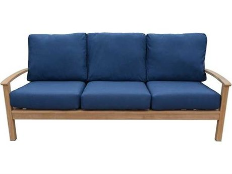 Three Birds Casual St. Lucia Teak Deep Seating 3-Seater Sofa