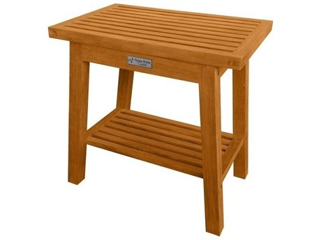 Three Birds Casual Teak Shower Stool